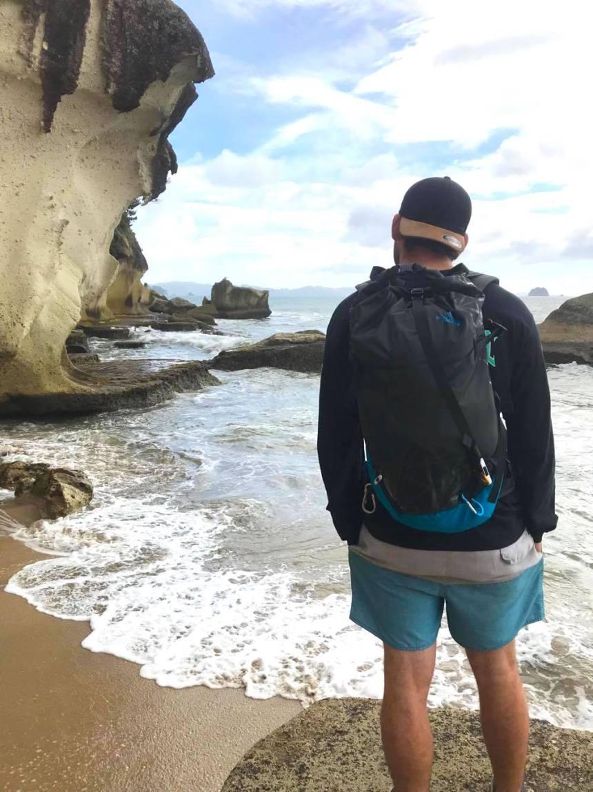 josh and beach